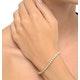 5ct Diamond Tennis Bracelet Claw Set in 9K Yellow Gold - image 2