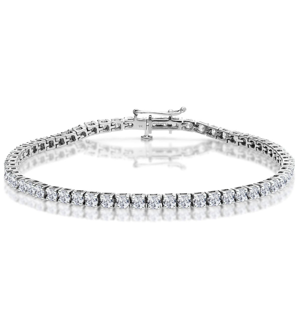 5ct Diamond Tennis Bracelet Claw Set in 9K White Gold
