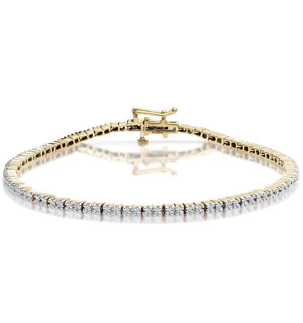 1ct Diamond Tennis Bracelet Claw Set in 9K Yellow Gold - image 1