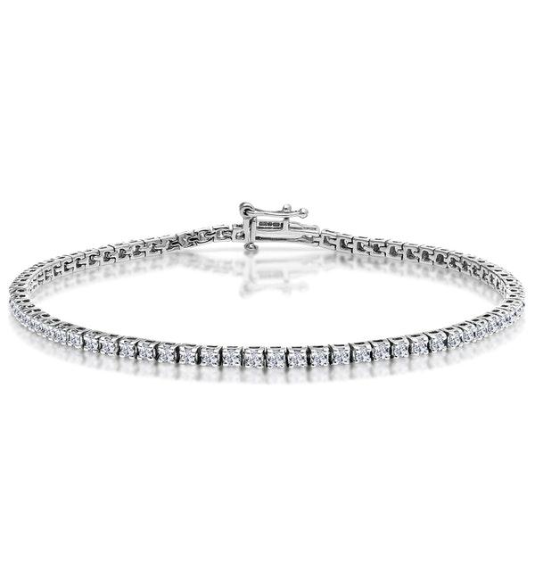 2ct Diamond Tennis Bracelet Claw Set in 9K White Gold - image 1
