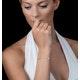 Blue Topaz and Diamond Stellato Bracelet 0.05ct in 9K White Gold - image 2