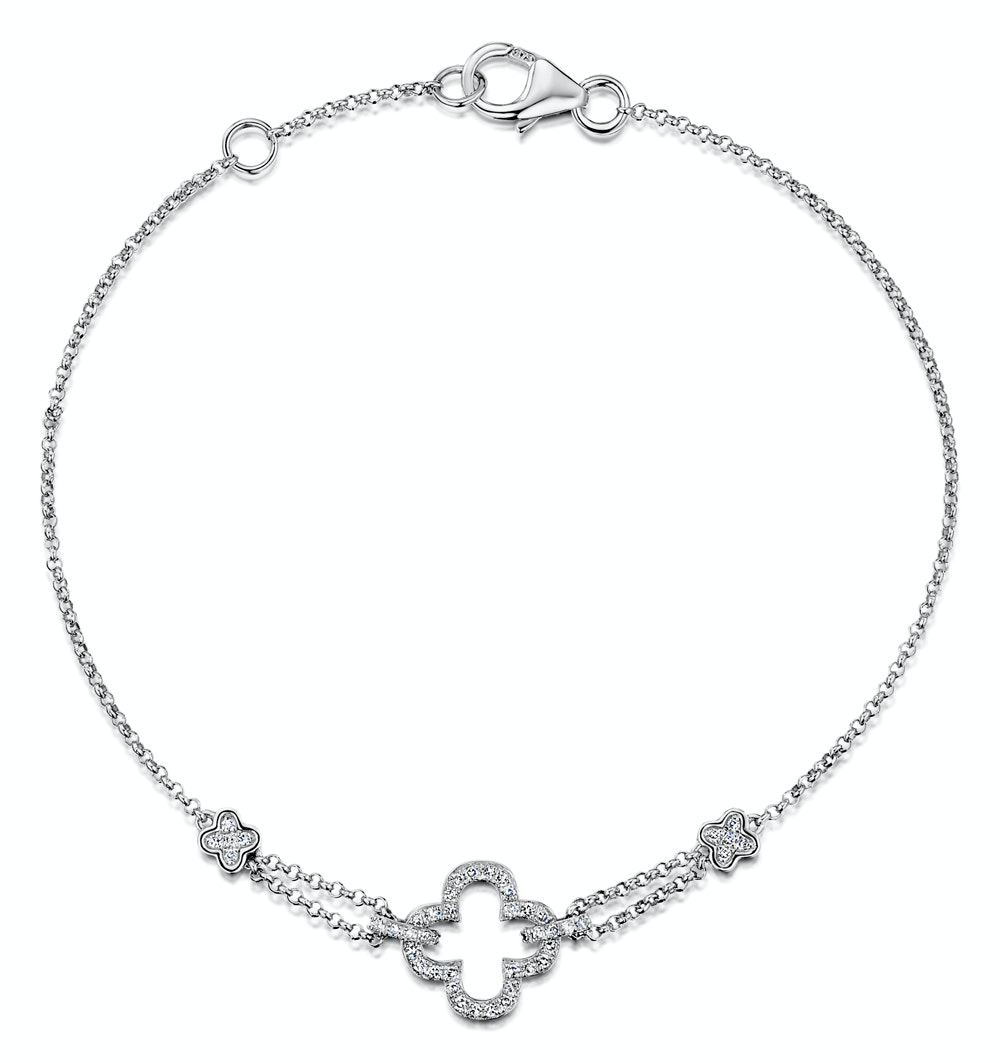 Stellato Collection Diamond Bracelet 0.15ct in 9K White Gold - I3656