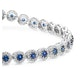 1.62ct Sapphire and 1ct Diamond Stellato Bracelet in 9K White Gold - image 3