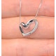 Heart Pendant 0.10ct Diamond 9K White Gold - image 3