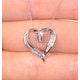 Heart Pendant 0.33ct Diamond 9K White Gold - image 3
