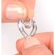 Heart Pendant 0.33ct Diamond 9K White Gold - image 4