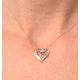 Heart Pendant 0.33ct Diamond 9K White Gold - image 2