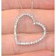 Heart Pendant 0.30ct Diamond 9K White Gold - image 4