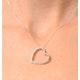 Heart Pendant 0.30ct Diamond 9K White Gold - image 2