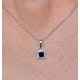 Stellato Collection Sapphire and Diamond Pendant in 9K White Gold - image 3