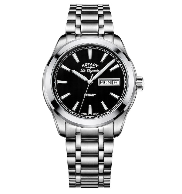 Rotary Les Originales Legacy Stainless Steel Swiss Gents Quartz Watch - image 1