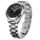 Rotary Les Originales Tradition S Steel Black Swiss Gents Auto Watch - image 2