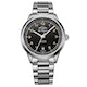 Rotary Les Originales Tradition S Steel Black Swiss Gents Auto Watch - image 1