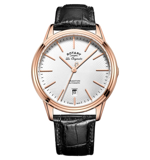 Rotary Les Originales Tradition Rose Gold Swiss Gents Automatic Watch - image 1