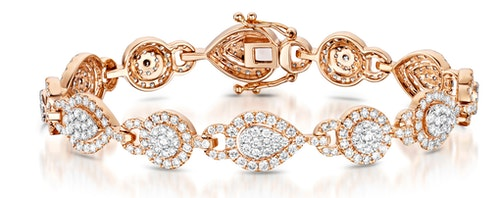 Halo Diamond Bracelets