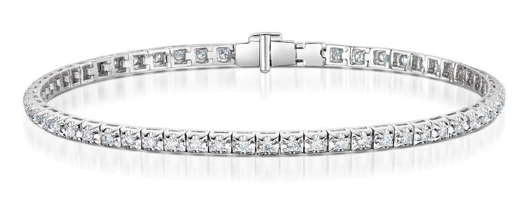 Diamond Tennis Bracelet 1.00ct in 18K White Gold J3351