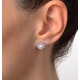 Tanzanite And Pearl 9K White Gold Earrings - image 4