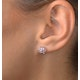 Pink Sapphire 0.78ct and Diamond 9K White Gold Earrings - image 2