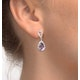 Amethyst 2.47CT And Diamond 9K White Gold Earrings - image 3