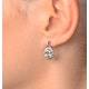 Aquamarine 3.69CT And Diamond 9K White Gold Earrings - image 3