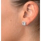 Aquamarine 1.90CT And Diamond 9K White Gold Earrings - image 3