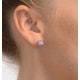 Tanzanite 0.52CT And Diamond 9K White Gold Earrings - image 4