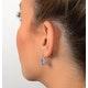 Blue Topaz 4.58CT And Diamond 9K White Gold Earrings - image 3