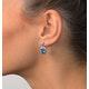 Blue Topaz 4.58CT And Diamond 9K White Gold Earrings - image 2