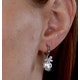 9mm Button Pearl and Diamond Stellato Earrings in 9K White Gold - image 4