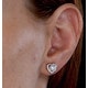 Stellato Collection Pearl and Diamond Heart Earrings in 9K White Gold - image 4