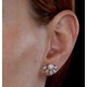 Stellato Collection Pearl and Diamond Earrings 0.12ct in 9K White Gold - image 4