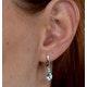Stellato Blue Topaz and Diamond Earrings 0.03ct in 9K White Gold - image 4