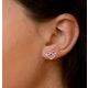 Vivara Collection Pink Sapphire 9K Rose Gold Heart Earrings H4575 - image 4