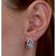 Blue Topaz and Diamond Stellato Earrings 0.09ct in 9K White Gold - image 4