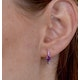 Rhodalite and Pink Sapphire Stellato Earrings in 9K White Gold - image 4