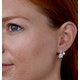 6mm Pearl Shell and Diamond Stellato Earrings 0.11ct in 9K White Gold - image 4
