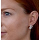 5mm Pearl Shell with 0.10ct Diamond Stellato Earrings 9K White Gold - image 3