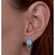 8mm Amazonite and Diamond Stellato Earrings in 9K White Gold - image 4