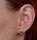 Rhodolite Pink Sapphire and Diamond Stellato Earrings in 9K White Gold - image 4