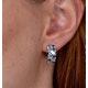 Blue Topaz Sapphire and Diamond Stellato Earrings in 9K White Gold - image 4