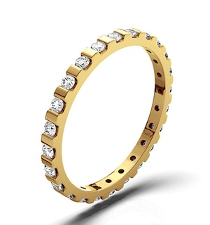 ETERNITY RING HANNAH 18K GOLD DIAMOND 0.50CT H/SI