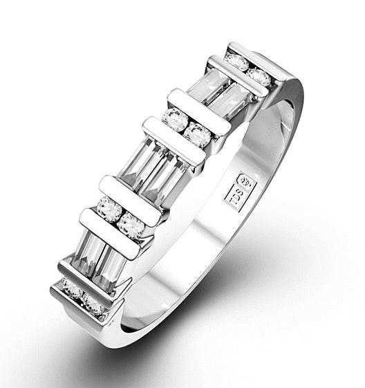 JESSICA 18K White Gold Diamond ETERNITY RING 0.50CT H/SI