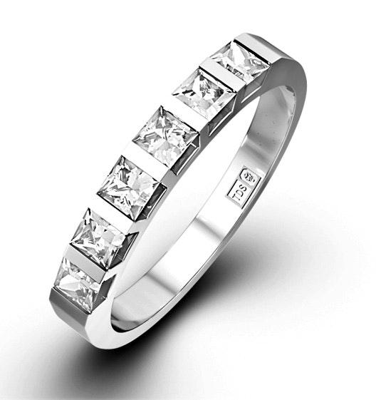 OLIVIA PLATINUM Diamond ETERNITY RING 0.50CT H/SI