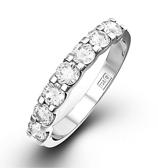CHLOE PLATINUM Diamond ETERNITY RING 1.00CT G/VS