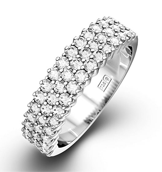 JASMINE 18K White Gold Diamond ETERNITY RING 1.00CT G/VS