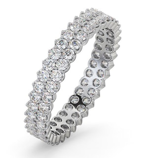 ETERNITY RING JASMINE PLATINUM DIAMOND 1.00CT H/SI