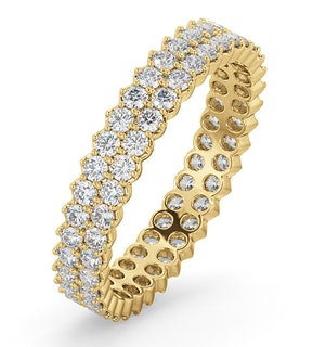 ETERNITY RING JASMINE 18K GOLD DIAMOND 1.00CT G/VS