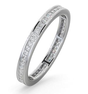 ETERNITY RING LAUREN 18K WHITE GOLD DIAMOND 0.50CT H/SI