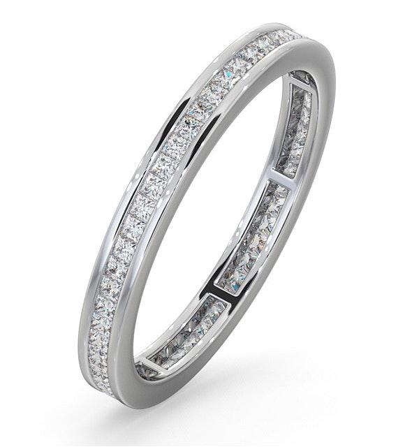 Eternity Ring Lauren 18K White Gold Diamond 0.50ct H/Si - image 1