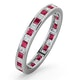 Lauren Diamond and Ruby Eternity Ring Size M - image 1